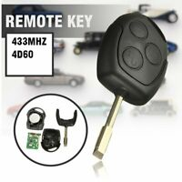 3 Button 433Mhz Remote Key Fob & Blade For Ford Mondeo Fiesta Focus Transit