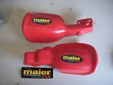 MAIER CUSTOM PLASTIC HANDGUARDS RED HONDA 95-01 TRX400/450 FORMAN