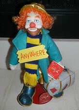 Nwt Vintage 1988 Ron Lee Clown Georgie by Applause with Metal Stand