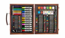Art 101 Art & Creative Set In Wooden Case New 78 Pieces Ages 6 & Up