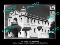 OLD HISTORIC PHOTO OF LOS ANGELES FIRE DEPARTMENT, THE No 18 ENGINE STATION 1940
