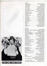 """ORIGINAL CINEMA PRESS SHEET -FOR """"  THE ONE AND ONLY """"  - HENRY WINKLER"""