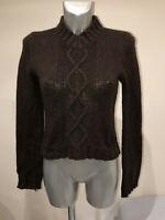 joli pull femme en laine marron ISABEL MARANT taille S (36 fr) EXCELLENT ÉTAT