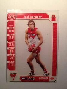 2015 Teamcoach Team Coach Prize Card Josh Kennedy Sydney Swans
