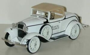 Ertl 746795 1:32 1930 Ford Model A See's Candies Roadster Coin Bank In Box Candy