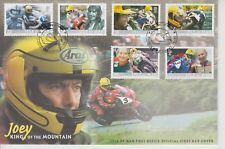 Unaddressed Isle of Man FDC 1st Day Cover 2001 Joey Dunlop King of the Mountain