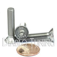 M6-1.0 x 30mm - Qty 10 - DIN 7991 Stainless Steel FLAT HEAD Socket Cap Screws A2