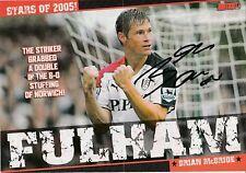 Brian McBride Fulham 2003-2008 revista original firmada a mano de corte