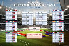 Fussball EM 2021 XL-Planer 91,5x61cm Spielplan Europameisterschaft Wandplaner