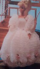 Vintage Knitting Pattern Doll Sindy Barbie Clothes Brides Dress