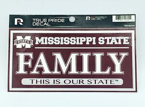 """MISSISSIPPI STATE BULLDOGS TRUE PRIDE DECAL FAMILY THIS IS OUR STATE  3"""" X 6"""""""