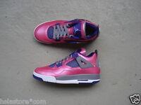 WMNS Nike Air Jordan 4/IV GS 38 Pink Foil/White-Cement Grey-Electric Purple