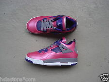 WMNS Nike Air Jordan 4/IV GS 38 Pink Foil/White-Cement Grey-Electric Purple