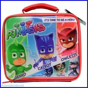 NEW WITH TAGS PJ Masks Insulated School Lunch Bag With Carry Handle