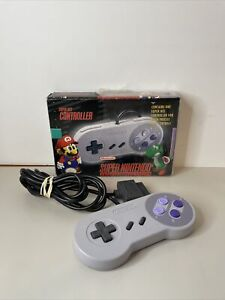 Super NES Controller Nintendo SNS-102 Box Included NM Rare Mario Yoshi Variant