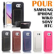 HOUSSE COQUE ETUI PORTEFEUILLE EN CUIR PU iPhone/Samsung/Sony/HTC/Wiko +50Modèle