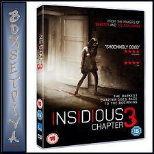 INSIDIOUS  CHAPTER 3 -  Dermot Mulroney & Stefanie Scott  * BRAND NEW DVD***
