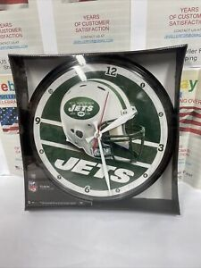 New York Jets WinCraft Wall Clock-NEW Free Shipping