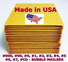 Kraft Selfseal Bubble Mailer Padded Envelopes Size 0 1 2 3 4 5 6 7 00 000 Cd Dvd