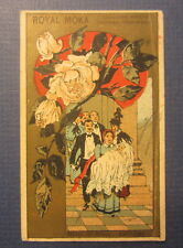 Old c.1880's - French Victorian TRADE CARD - Royal Moka Chicoree - Baptism
