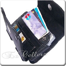 for LG OPTIMUS ZONE 3 III VERIZON BLACK WALLET LEATHER CASE HOLSTER COVER POUCH