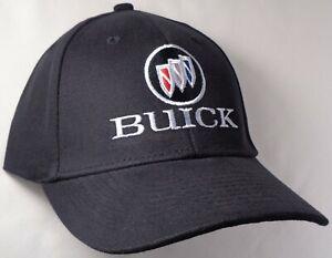 Hat Cap Licensed GM Buick Tri Shield Logo Black HR 136
