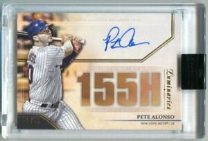 2020 Topps Luminaries Pete Alonso Autograph Hit Kings Auto #/15 Encased
