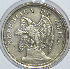 Chile 1925 20 Centavos Condor animal 291177 combine shipping