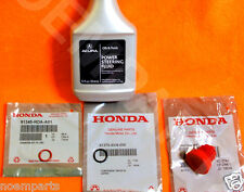 NEW GENUINE ACURA Power Steering Pump Oil O-Ring Seals & Fluid Reseal 4 pc Kit