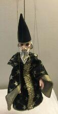 Vintage Marionette String Puppet Wizard Fantasy Wood Legs Ceramic Hands Face