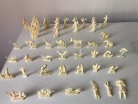 Antigue Old Lot Figures Toys Advetising Images Figures By Heudebert