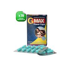Stimulant Sexuel / Aphrodisiaque Hommes G-Max PowerCaps - 20 gélules GMAX