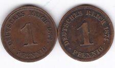 1874 A Germany 1 Pfennig Coins***Collectors***