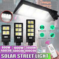 800/1000/2000W LAMPIONE STRADALE LED PANNELLO SOLARE FOTOVOLTAICO TELECOMANDO !