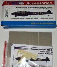Umbausatz für Bf 110 D-3 w/ Spanner Anlage in 1/32 von AML