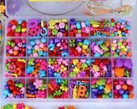 Colorful Kit Craft Make Own Beads Jewellery Box Set DIY For Girls Kids Children