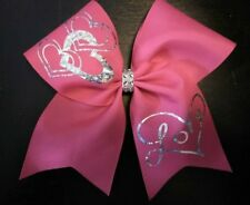 Valentine's Day Pink Love Hearts Cheer Size Hair Bow