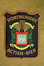 Dortmunder Actien-Brauerei, Nostalgie-Messingschild (Rarität), Werbung