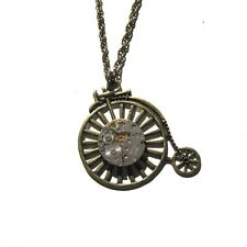 steampunk punk rock jewelry necklace pendant watch parts movements bike bicycle