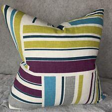 "Modern Cushion Cover 16"" Designer iLiv Azari Fabric , Teal & Geometric Print"