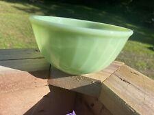 Vintage Anchor Hocking FIRE-KING Jadeite Swirl Mixing Bowl 6