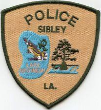 SIBLEY LOUISIANA Jumping Fish POLICE PATCH