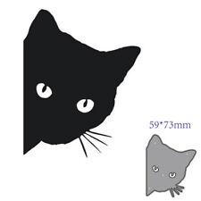 Cat Metal Cutting Dies Stencil DIY Scrapbooking Embossing Paper Cards Craft