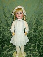 """SWEET 20"""" ANTIQUE BISQUE HEAD ARMAND MARSEILLE DOLL W/ KESTNER COMPO BODY"""