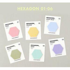 PAPERIAN Single Plan Marker HEXAGON Note Sticky Note Small Sticky Note South Kor