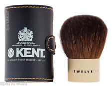 Kent Twelve Kabuki Natural Bristle POWDER / BRONZER Travel BRUSH + Pouch TWMU12