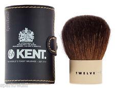 Kent Twelve Kabuki Natural Bristle POWDER / BRONZER Travel BRUSH + Pouch TWMU12