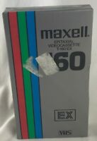 Maxell Blank Media VHS Tape EPITAXIAL T-160 EX New Sealed NIP