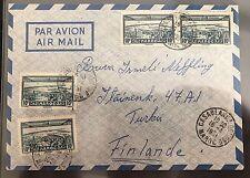 cover Marokko Morocco Maroc Casablanca Biyrse Air Mail Finland Turku Belliot