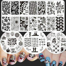 4Pcs/Set Born Pretty Nail Art Stamp Image Plates Cake Animal Theme Templates DIY